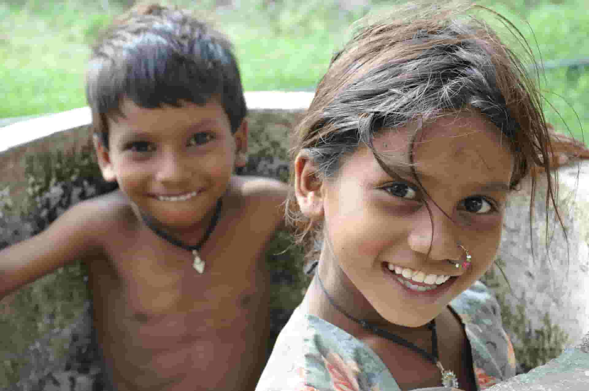 2 sibling Smiling